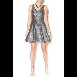 EVERLY / ANTHROPOLOGIE Sparkle Fit & Flare Dress S